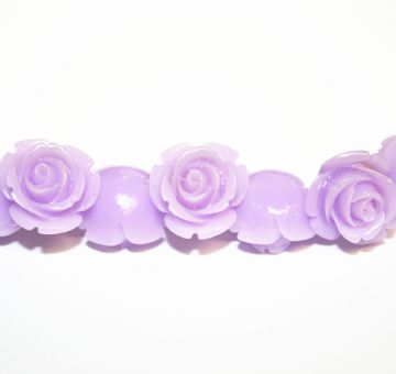 16pcs x 20mm Acrylic flower - rose beads - lilac